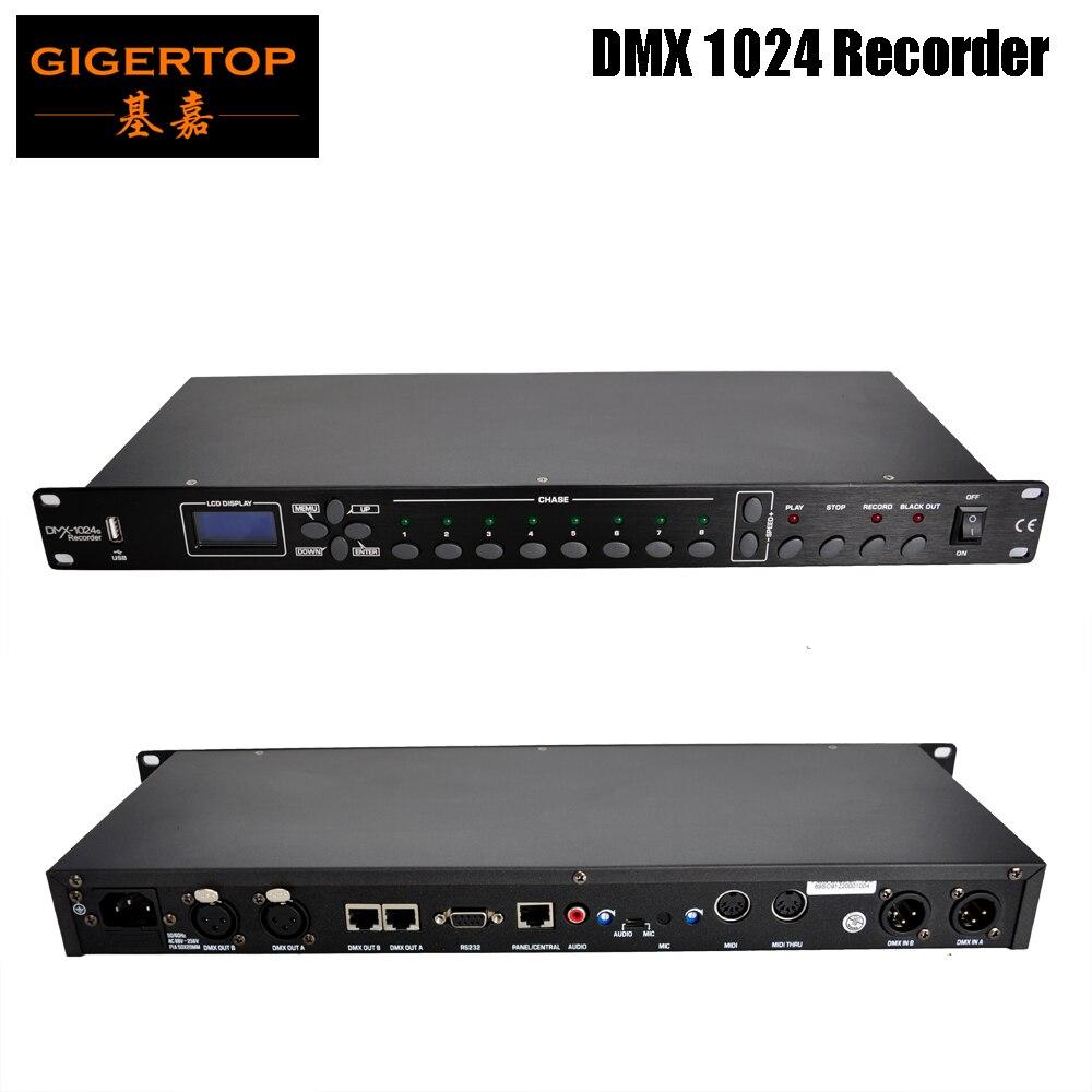 Gigertop TP-D1369 grabadora DMX 1024 automática (Multi, ciclo, individual), micrófono, Audio y...