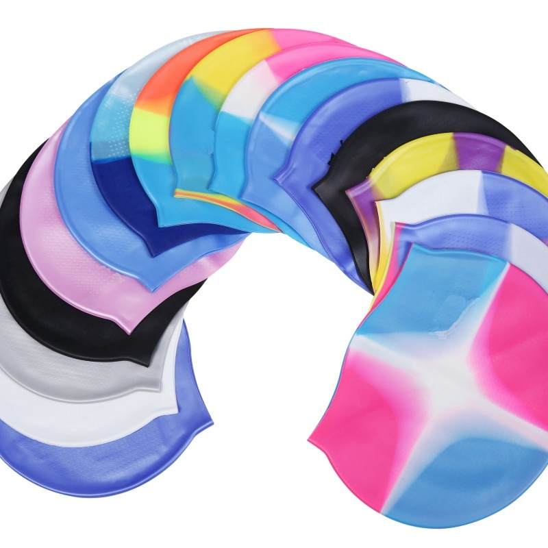 2019 tapa de natación de impresión tapa de natación avanzada Protección del Medio Ambiente de silicona mujer tapa de piscina de silicona de pelo largo