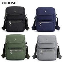 YOOFISH Men's Simple fashion messenger bags shoulder bag Hot sale canvas bags classic leisure student bag free shipping XZ-139.