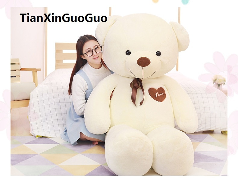 Oso de peluche enorme de 160 cm, oso de peluche, oso de peluche blanco, almohada grande, regalo de cumpleaños w2972