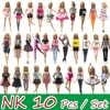Nk 10 個姫の人形のドレス高貴なパーティーのためにバービー人形アクセサリーファッションデザインの衣装最高のギフトのための少女人形 jj