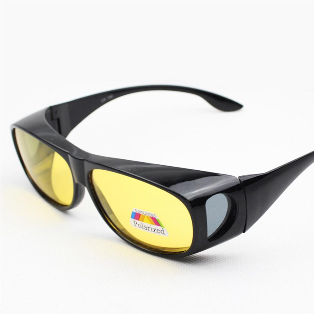 Gafas de sol de pesca Unisex Mounchain con protección UV y cristales amarillos, gafas de sol clásicas para conducir, gafas de visión nocturna graduadas