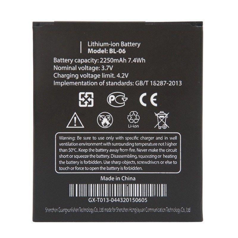 Original 3.7 v 2250 mah Bateria recarregável de Telefone Celular Para THL BL-06 BL06 BL 06 T6 T6S Pro T6C Substituição bateria