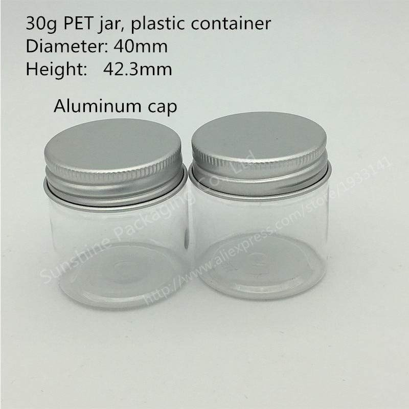 Gran oferta de tarro PET de 500X30g, tarro de crema de plástico de 30 gramos, tarro de 1 oz para Seguridad Infantil, contenedor cosmético de 30g