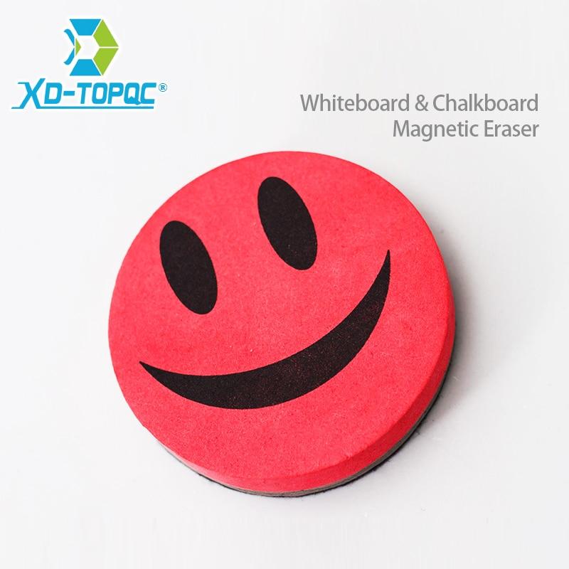 Lächeln Gesicht Whiteboard Radiergummi 4 Farben Magnetic Bord Radiergummis Wischen Trockenen Löschen Tafel Tafel Marker Reiniger Kostenloser Versand