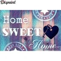 Dispaint     peinture diamant  Home sweet landscape   broderie complete 5D  perles carrees ou rondes  points de croix  decoration dinterieur  a faire soi-meme  A10342