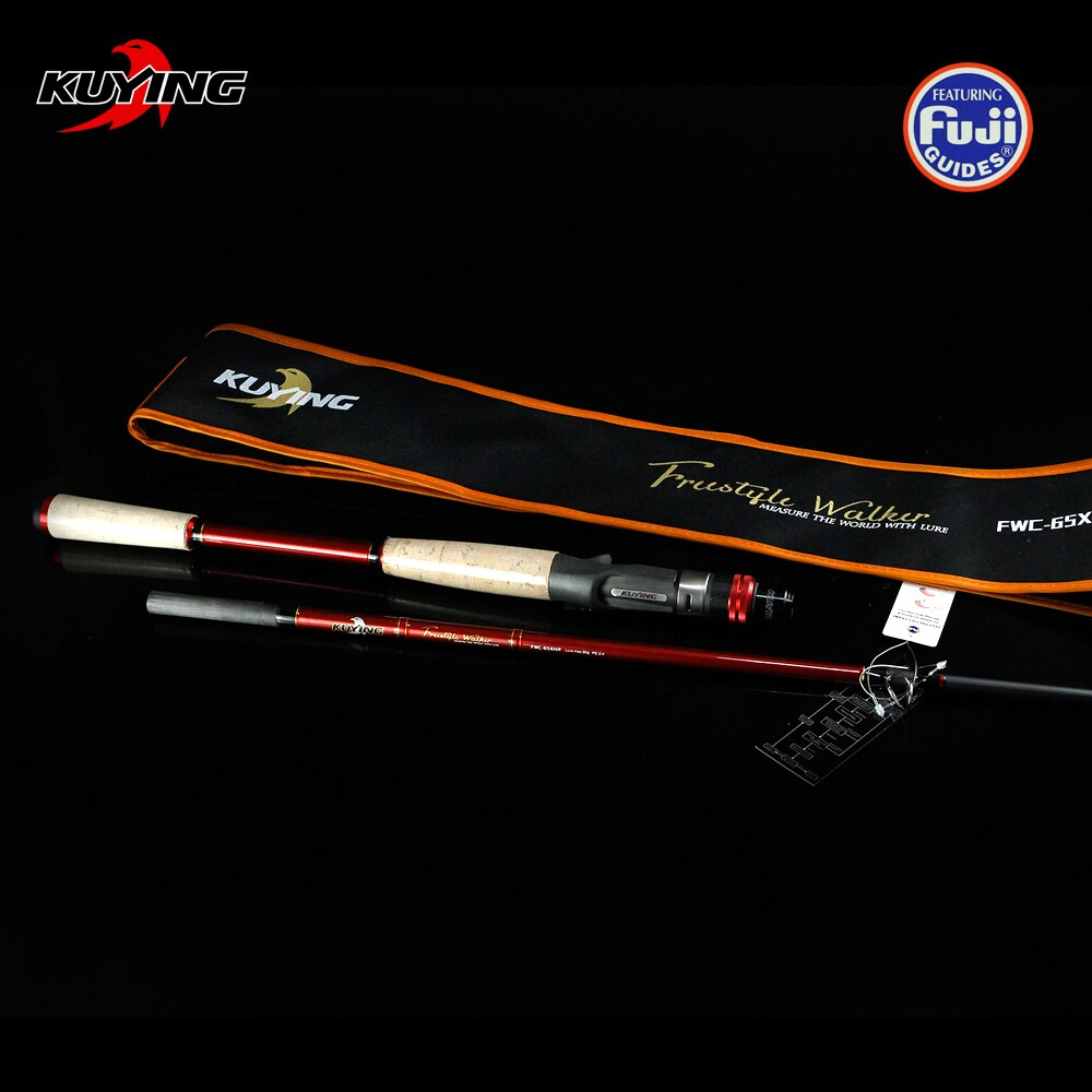 KUYING Freestyle Walker 1.95m Superhard XH Carbon Baitcasting Casting Fishing Lure Rod Cane Pole Stick 1.5 Sections  Fast Action enlarge