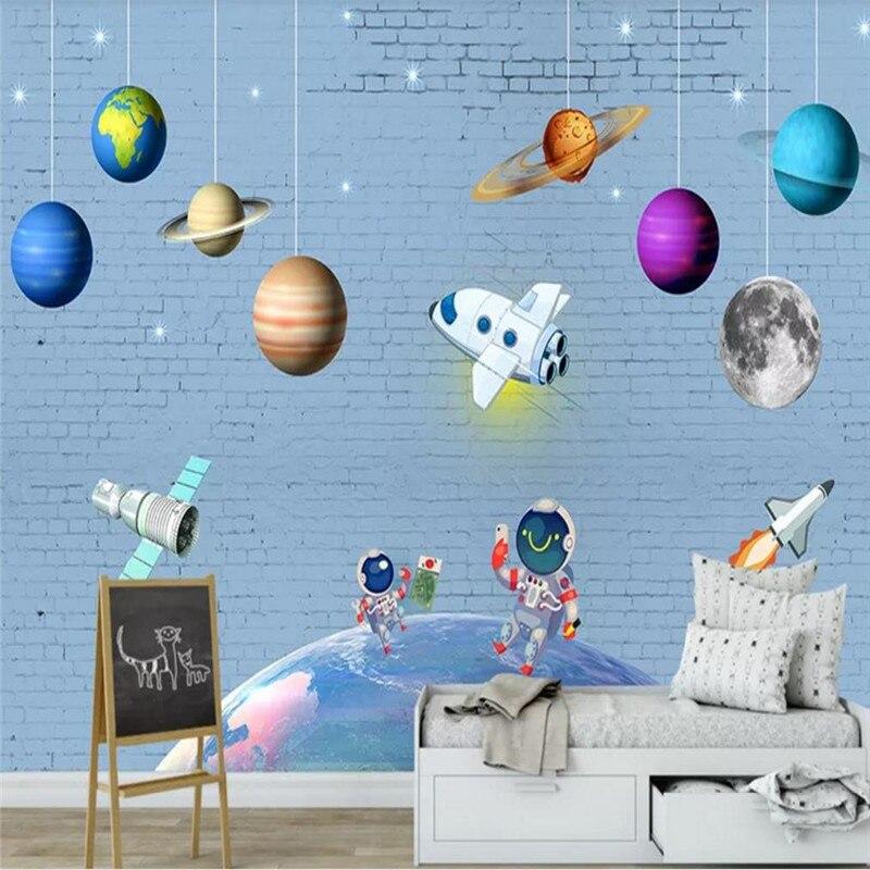 Пользовательские обои Мода планеты Детская комната фон украшение стены водонепроницаемый материал