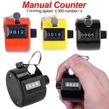 Clicker de palme 4 compteurs de chiffres affichage de la main de la coque en plastique compteur de comptage manuel
