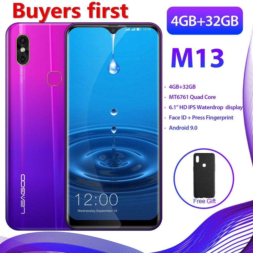 "2019 nuevo LEAGOO Android 9,0 199 6,1 ""FHD teléfono inteligente 4GB RAM 32GB ROM MT6761 Quad Core 4G de agua OTG teléfono móvil PK Y8"