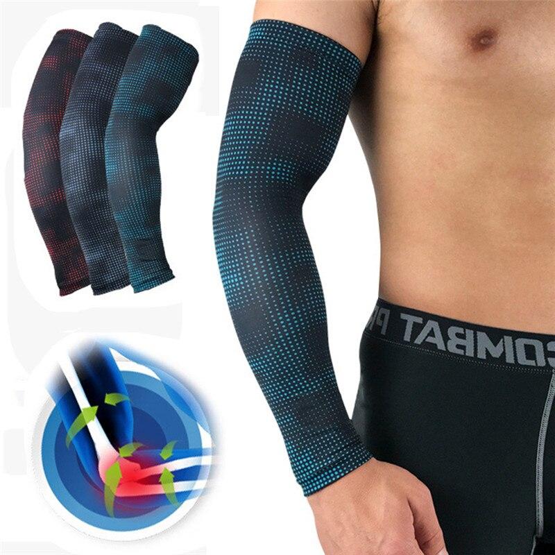1 Uds. Protector solar para hombres calentadores de brazos mangas deportivas ciclismo Running bicicleta baloncesto protección solar Cuff para brazo con protección