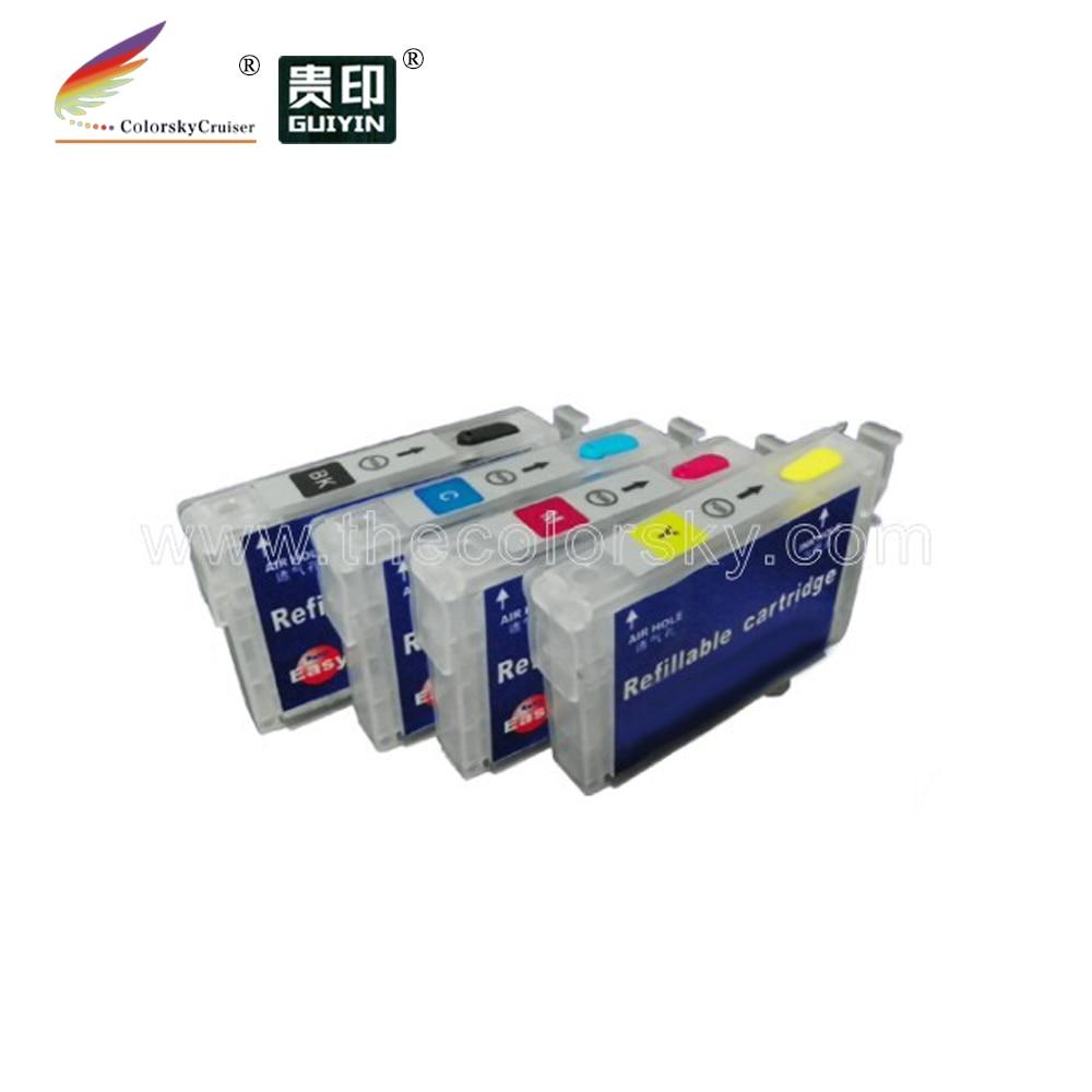 (RCE1261) de tinta recargable cartucho de inyección de tinta para Epson T1261-T1264 T126 T 126 fuerza de 520 de 630, 635 60 840 kcmy FedEx gratis