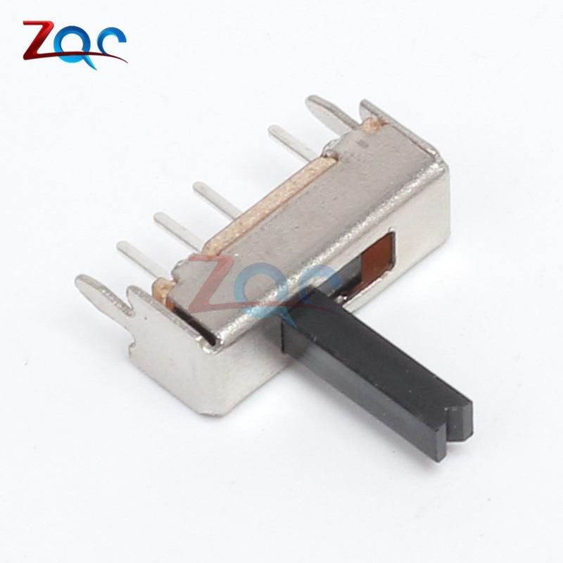 10 Uds SS13D07 interruptor deslizante 1P3T 4Pin con mango 6mm 3 posiciones para bricolaje electrónico
