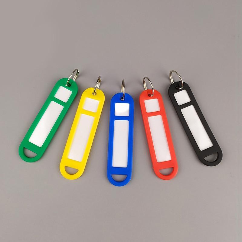 Colorful Key Classification Card 50Pcs Keychain Office Key Holder Key Label Key Ring Luggage Tag Hotel Car Classified Card HC-14