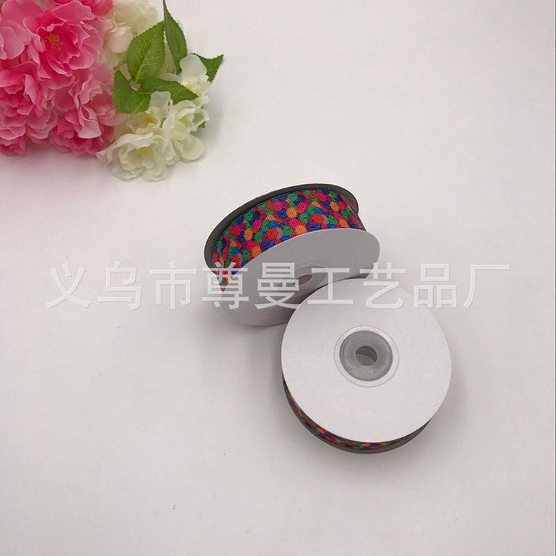 DIY2.5cm * 20 Metros de Impressão Digital de Roupas Acessórios Materiais Decorativos Fita de Transferência Térmica de Sublimação de Cor Rodada