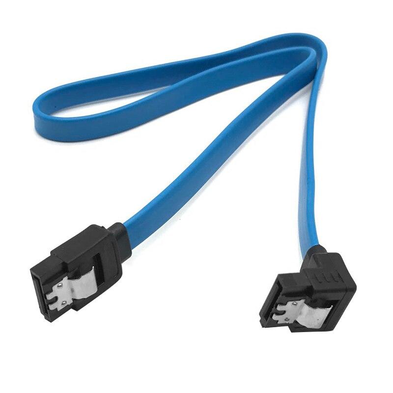 40cm SATA 3.0 Cable SATA 3.0 III SATA3 6GB/s Hard Drive Data Cable Cord SAS Cable Dual Channel Straight 90 Degree wire TXTB1