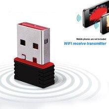 Adaptador wifi USB inalámbrico Antena de ordenador WiFi de 150Mbps mini tarjeta de red de internet adaptador LAN Dongle receptor Ethernet Wi-fi