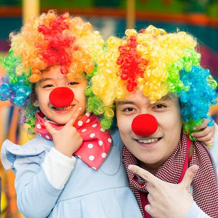 10 pcs venda Quente Útil Adorável Bola Red Espuma Circus Clown Nose Comic Party Halloween Costume Magia Vestido Acessórios