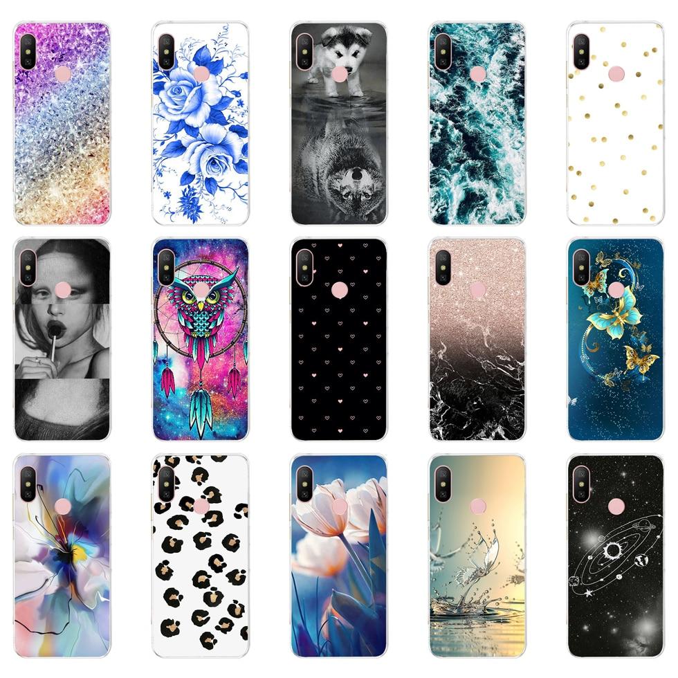 O silicone Cover For Xiaomi MI A2 LITE Case Full Protection Soft tpu Back Cover Phone Cases For Xiomi MI A2 LITE bumper Coque