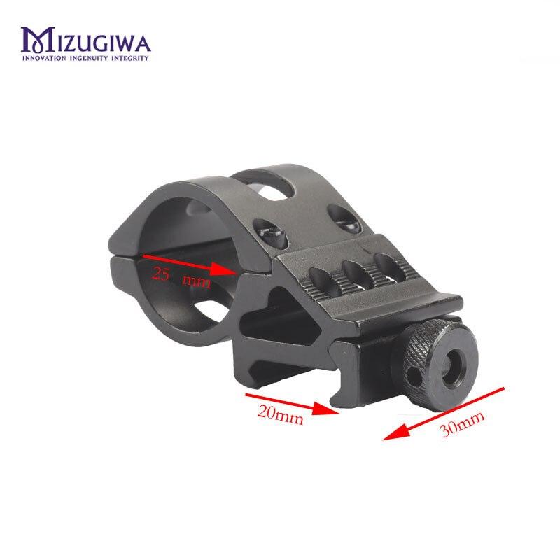 MIZUGIWA 45 Degress 1 Inch 25.4mm / 30mm Ring Offset Flashlight Torch Laser Mount Rifle Scope Weaver 20mm Picatinny Rail