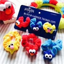 Sesame Street Elmo Monster Haar Hoop Haar Zubehör Haar Seil Plüsch Weichen Spielzeug Für Baby Mädchen Geburtstag Geschenke 3 stücke