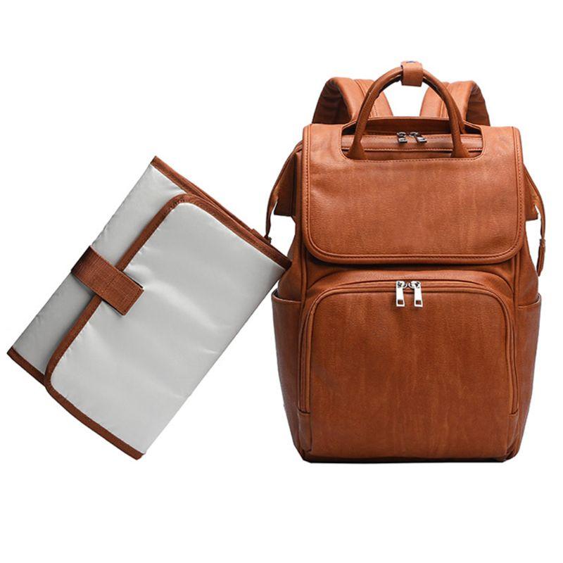 ثينك ثيندو قسط جديد سعة كبيرة الأمومة الحفاض أكياس حفاظات بولي Leather الجلود مومياء حقيبة السفر متعددة الوظائف المنظم