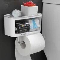 Porte-rouleau de papier hygienique Double couche  multifonctionnel  creatif  pour cuisine  salle de bains  etagere  2019