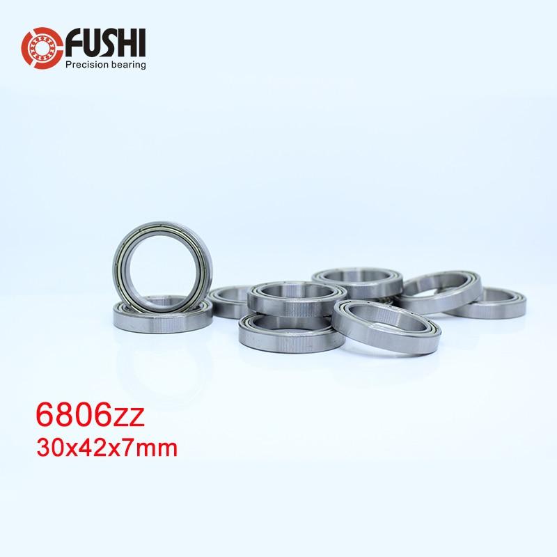 6806ZZ Bearing ABEC-1 (10PCS) 30x42x7 mm Thin Section 6806 ZZ Ball Bearings 61806 Z 6806Z