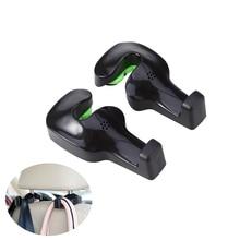 2pcs Car Vehicle Back Seat Headrest Hanger Holder Hooks (Black)