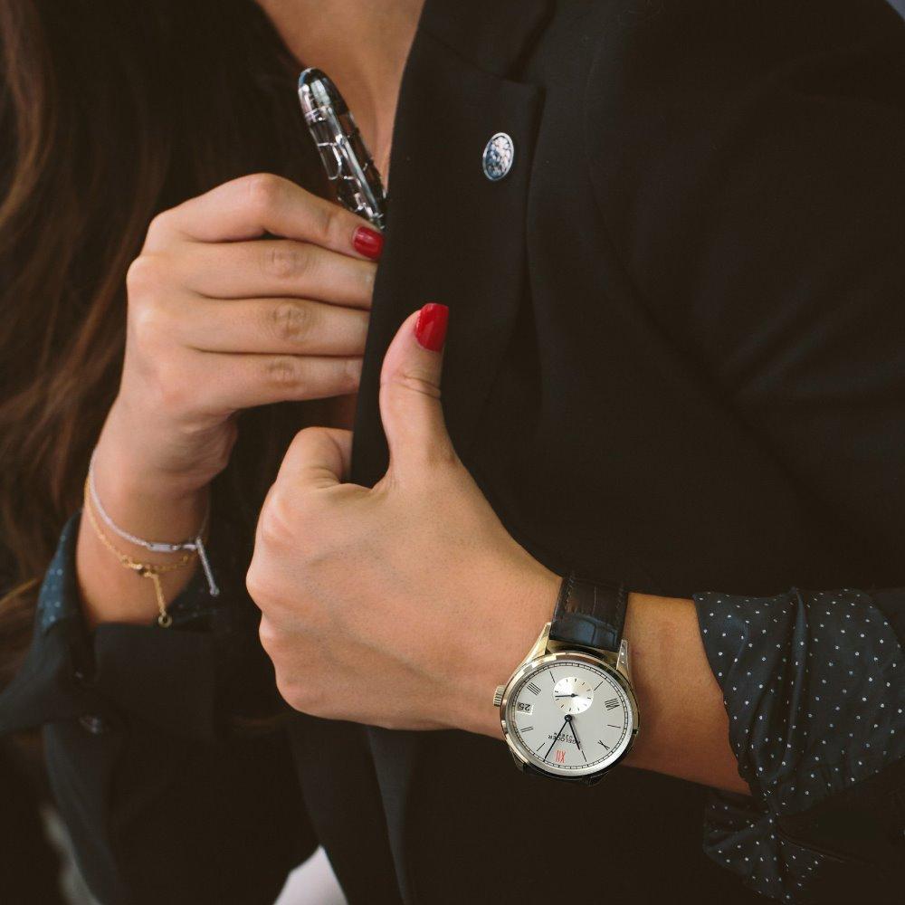 Agelocer Brand Swiss Automatic Watch Women Leather Bracelet Date Ladies Wristwatch Black Mechanical Watch Clock Reloj Mujer enlarge