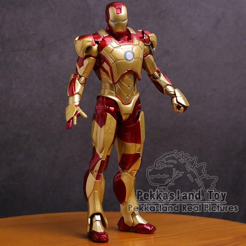 Iron Man Mark MK 42, figura de Acción Dorada de PVC, Iron Man, juguete de modelos coleccionables