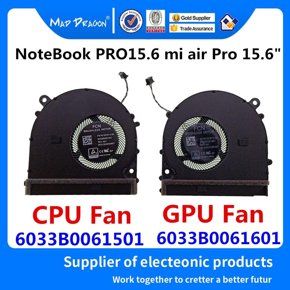 Новый оригинальный вентилятор охлаждения процессора видео GPU Вентилятор охлаждения левый и правый вентилятор для Xiaomi NoteBook PRO 15,6 mi air Pro 15,6