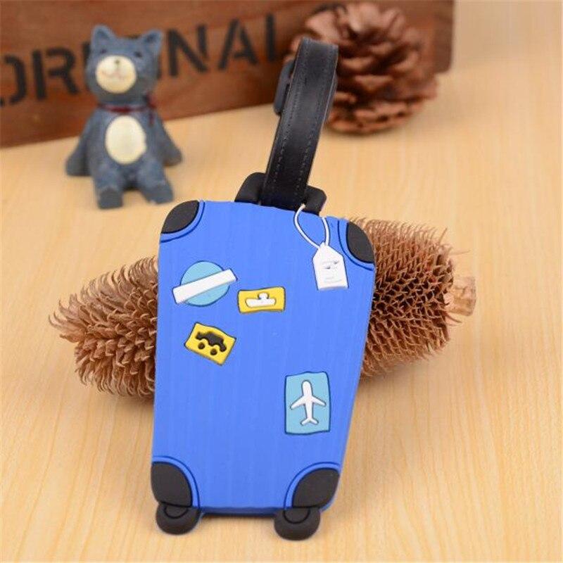1 Maleta nueva etiquetas De dibujos animados para equipaje diseño ID etiqueta titular De dirección etiqueta identificadora accesorios De viaje Maleta De Ferramenta