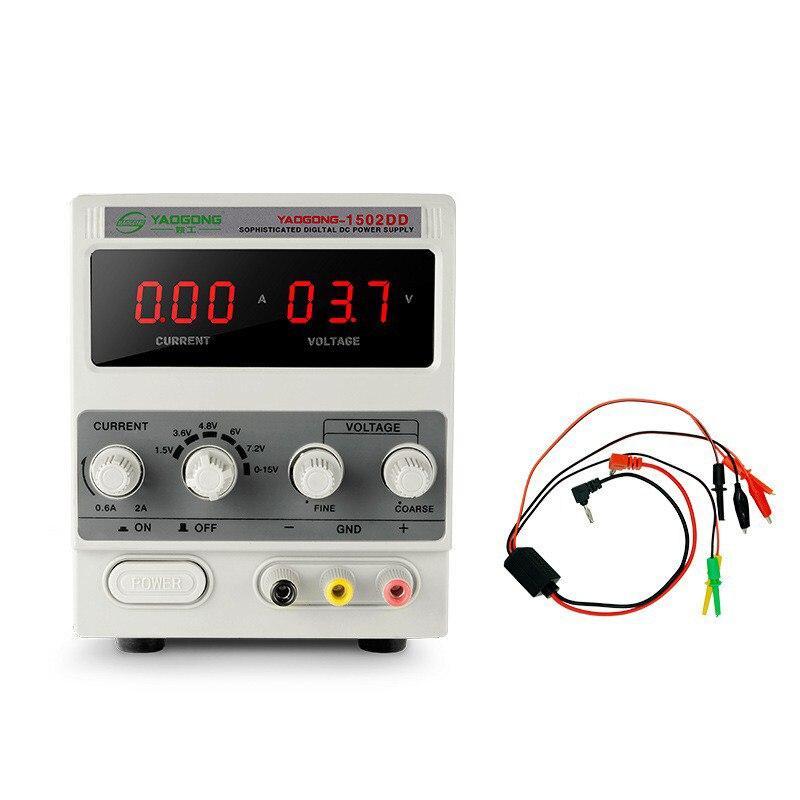 Laboratorio de fuente de alimentación ajustable transformador Digital 15V 2A AC a DC regulador de voltaje de reparación de teléfono móvil prueba de poder