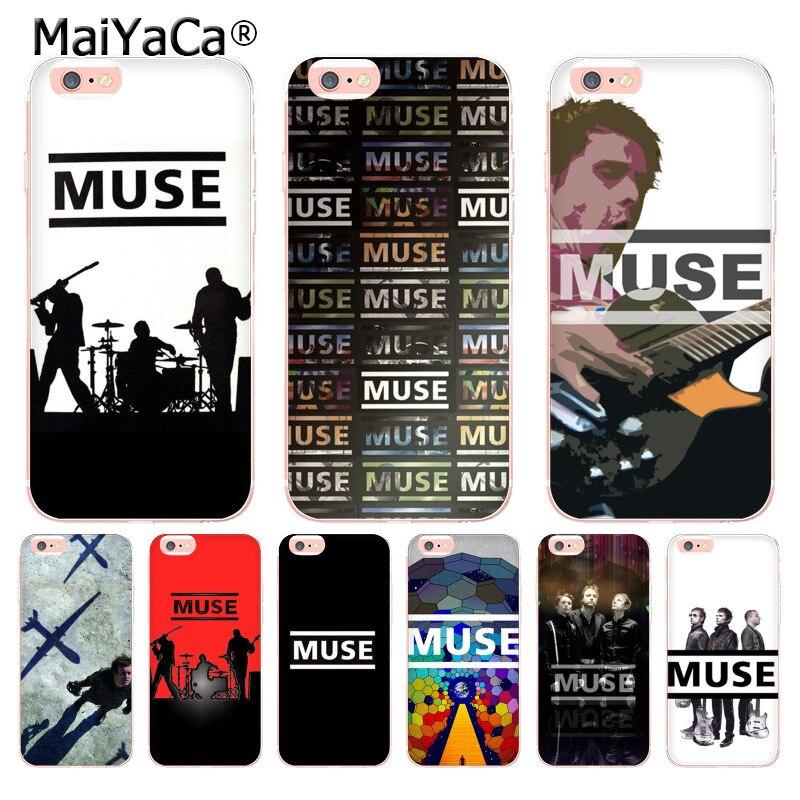 MaiYaCa Musa banda transparente cubierta de teléfono de TPU suave para iPhone 6X6 s 7 7plus 8 8Plus XS MAX XR 5 5S caso coque