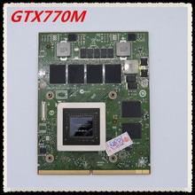 GTX 770M GTX770M 3G DDR5 HW6C9 D3XJC N14E-GS-A1 Graphique Vidéo carte VGA Pour Dell M17X R2 R3 R4 R5 M18X R1 R2