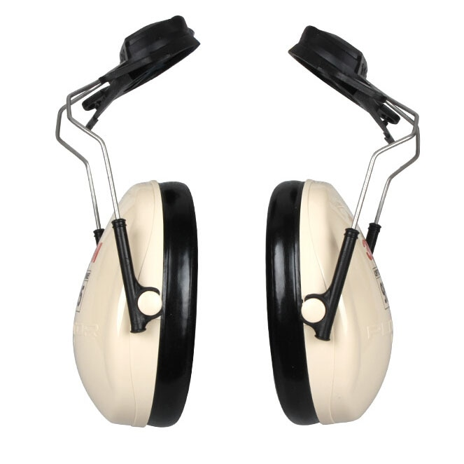 3M H6P3E Cap-Mount Earmuffs Hearing Conservation H6P3E Ultra light with liquid/foam filled earmuff cushions E111