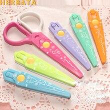 Бесплатная доставка DIY милые Kawaii пластиковые кружевные ножницы для резчик бумаги; Скрапбукинг, Детские офисные школьные принадлежности, корейские канцелярские принадлежности