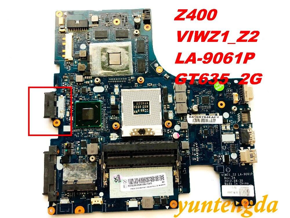 الأصلي لينوفو Z400 اللوحة VIWZ1_Z2 LA-9061P GT635 2G اختبار جيدة شحن مجاني موصلات
