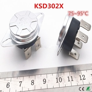 10pcs /lot KSD302X  75/80/92/93/95degree  250V 20A Electric water heater thermostat/  temperature control switch