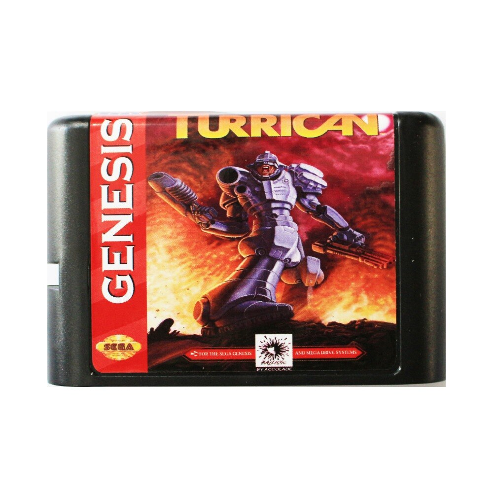 Turrican 16 bit tarjeta de juego MD para Sega Mega Drive para...