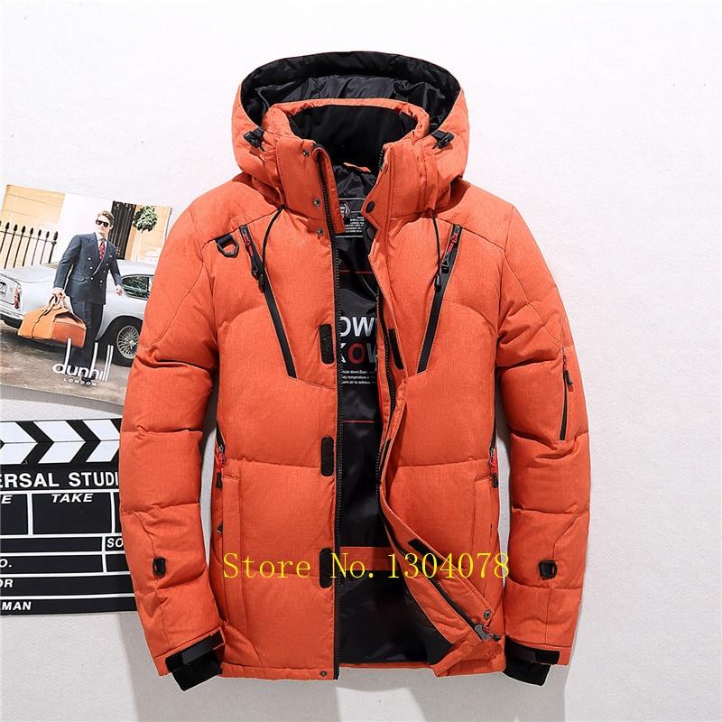 New 2019 winter jackets mens Tace & Shark Brand Coats Keep Warm White Duck Down Jacket Men Windproof Snow Coats Plus Size 4XL