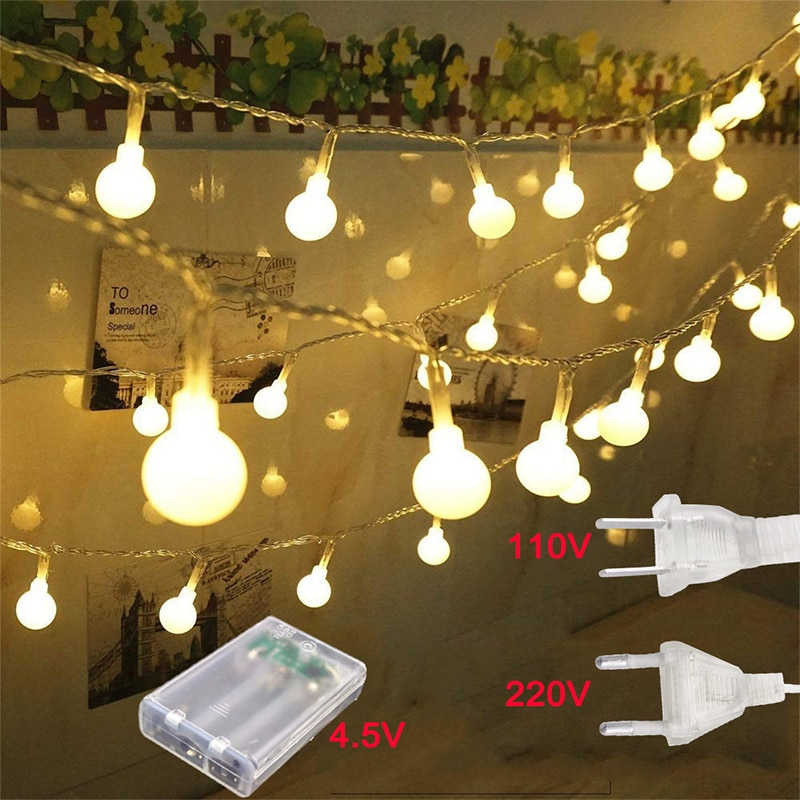 10M/20M/30M LED top dize ışıkları 110V/220V noel peri Garland açık su geçirmez tatil parti bahçe ev dekor lambası