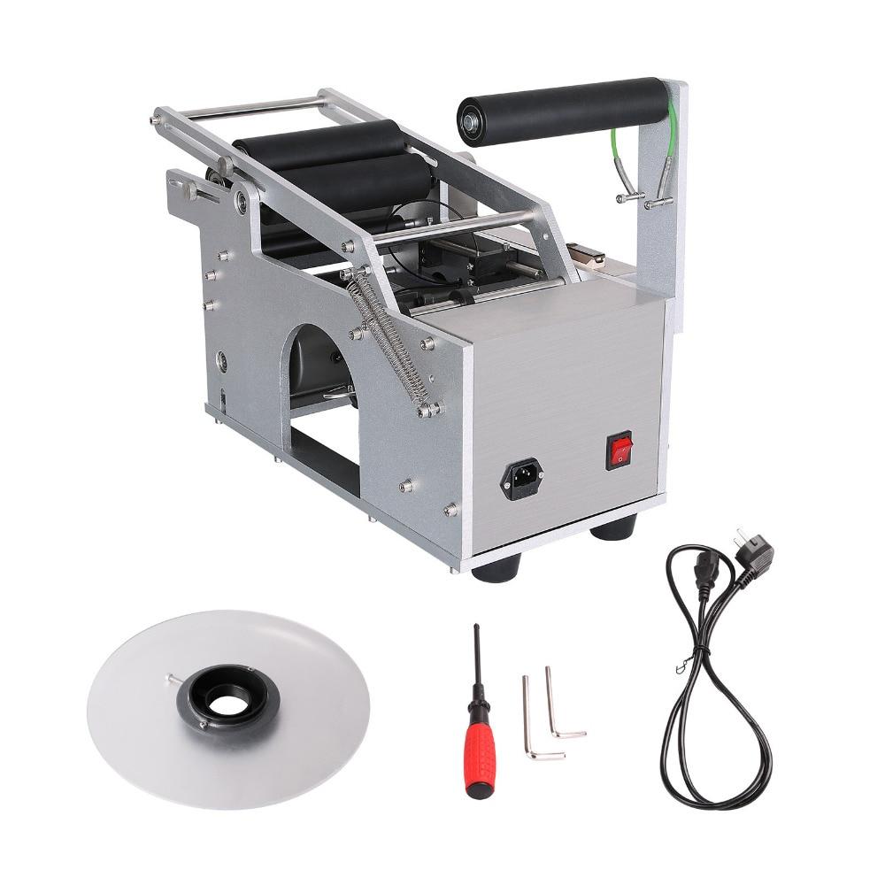 Free Ship to EU Semi-automatic Round Bottle Labeling Machine Electric Printer Coding Packing Machine