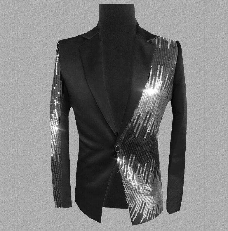 sequins blazer men suits designs jacket mens stage costumes for singers clothes dance star style dress punk rock masculino 45667