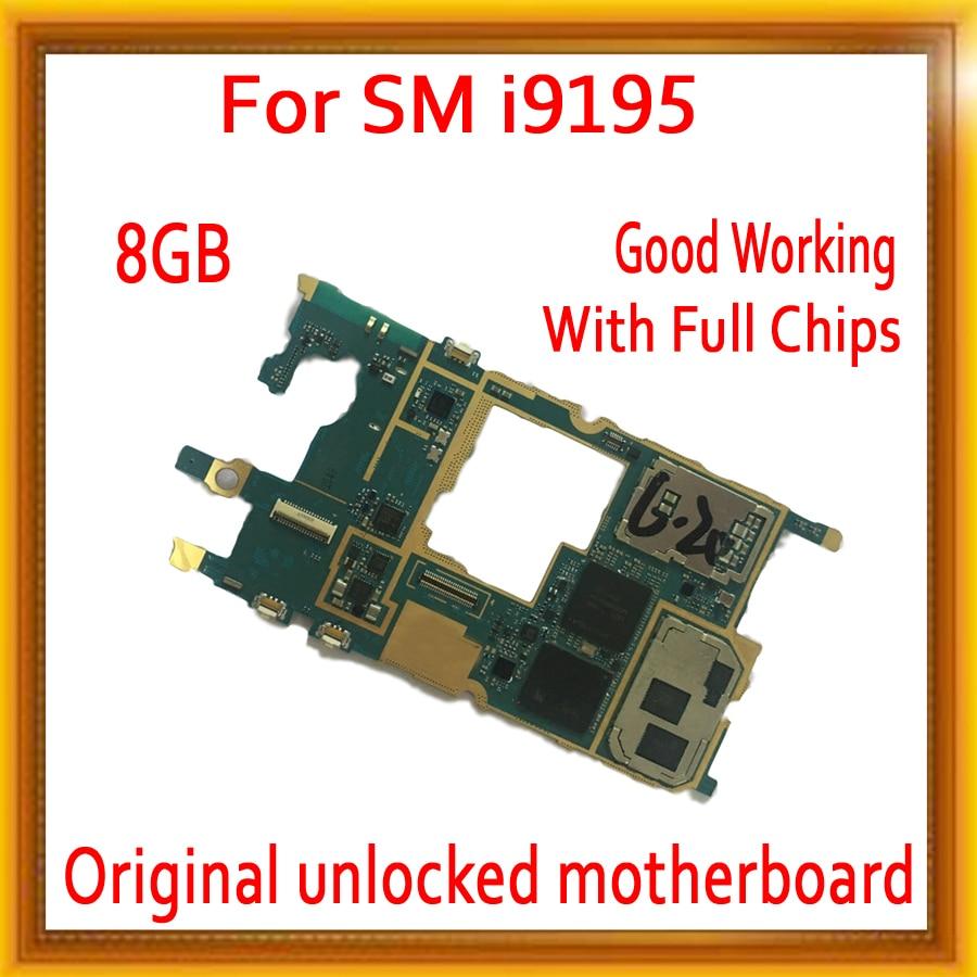 Original desbloqueado para Samsung Galaxy S4 mini i9195 placa base 8 GB, versión europea para S4 mini i9195 placas lógicas buen funcionamiento