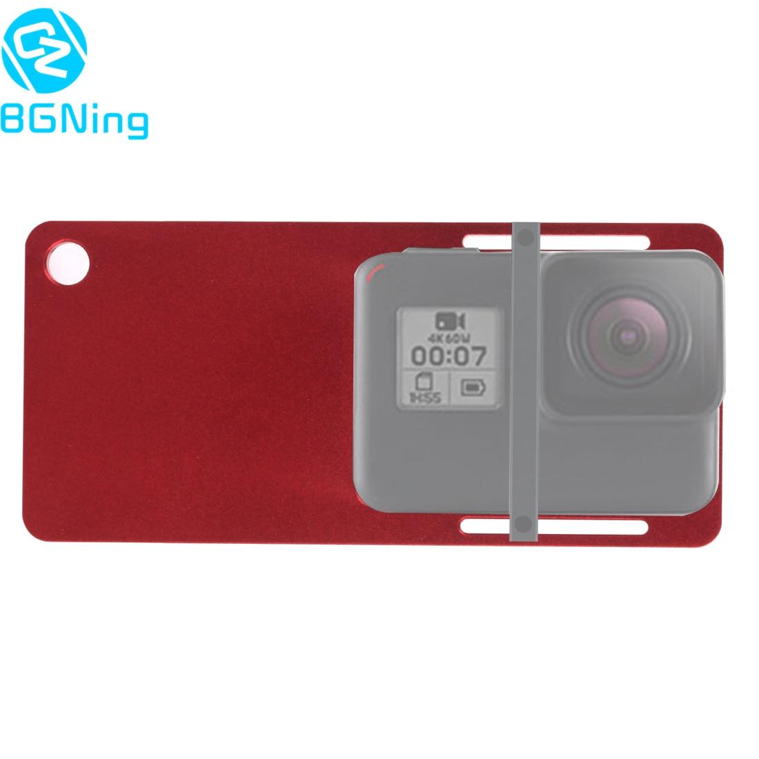 Câmera de alumínio placa interruptor cardan adaptador de montagem para gopro hero 7 6 5 4 yi para eken para dji osmo ação para zhiyun