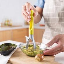 Tranches multifonctions fruits chair   Couteau séparé, cuisine coupe-avocat trancheur plastique corters à fruits, outils utiles pour fruits