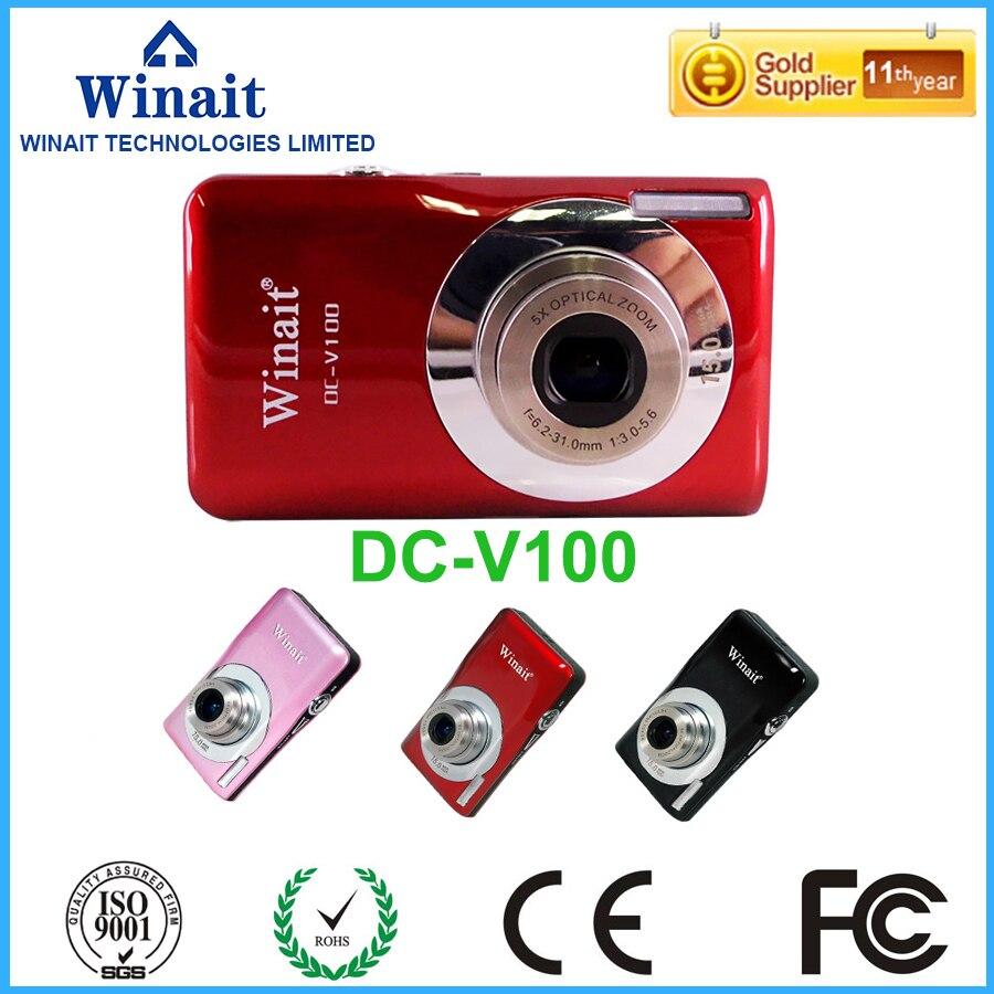 """Cámara Digital compacta 15 Mega Pixles DC-V100 Zoom óptico 5x 2,7 """"cámara Digital profesional Detección de cara y sonrisa envío gratis"""