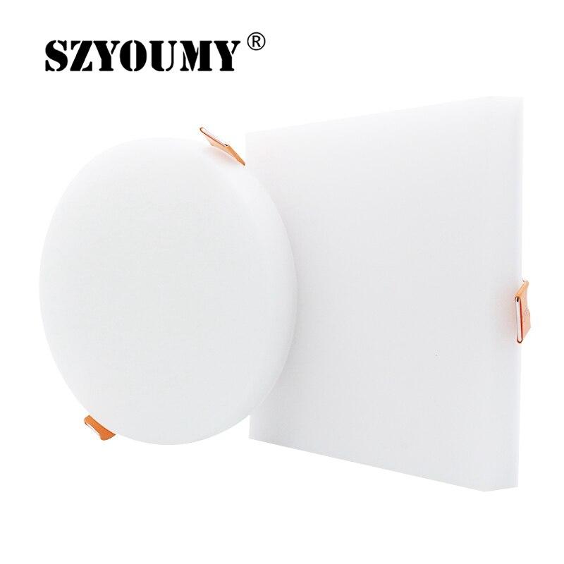 SZYOUMY-مصباح سقف LED مربع بدون إطار ، إضاءة خلفية 2019 درجة ، 10 واط ، 18 واط ، 24 واط ، 36 واط ، تيار متردد 85-265 فولت مع مللي متر